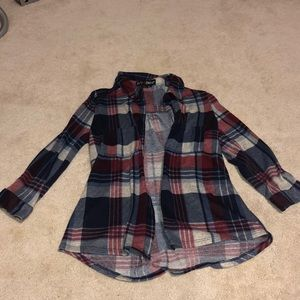 Polly & Esther Red, White & Blue Flannel Size L